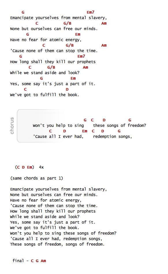 Index Of Pdfchordsredemption Song